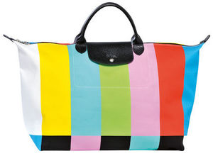 Longchamp × Jeremy Scott☆限定バッグ multi-colored stripes