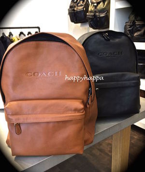【Coach】上質レザーCampus backpack in leather/F72120