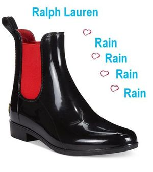 雨も楽しい 〜雨靴☆Ralph Lauren☆ Tally Short Rain Booties