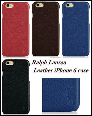 セール【国内在庫有】Ralph Lauren Leather iPhone 6 caseケース