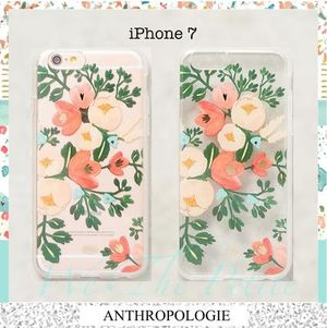 【iPhone7】Rifle Paper co. フラワー ピーチ