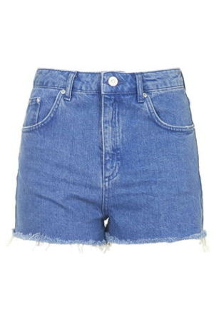 《定番使いに♪》☆TOPSHOP☆MOTO Ultra Blue Mom Shorts
