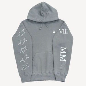 (87MM) ☆MULTI PRINTING HOOD-OVERSIZE (GREY) ☆