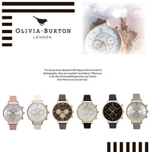 イギリス買付け!【Olivia Burton】 Big Dial Chrono38mm★6色★