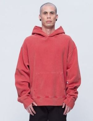YEEZY SEASON 3 FLEECE HOODIE / RED BY カニエウエスト