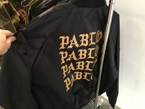 国内未入荷 PABLO BLACK SATIN BOMBER