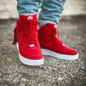 [日本未入庫] Nike Air Force 1 Hi '07 Denim Gym Red