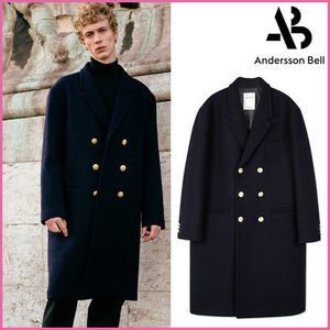【ANDERSSON BELL】正規品★DOUBLEミリタリーコートNAVY/EMS直送