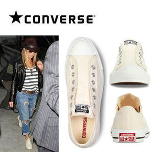 Converse Slip-On/Natural★紐なしコンバース