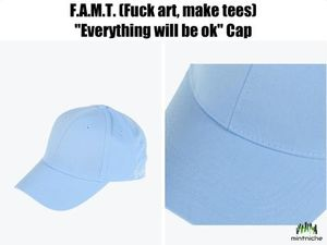 "*日本未入荷* F.A.M.T. - ""Everything will be ok"" Cap ブルー"