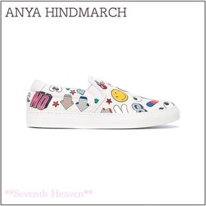 送料関税込☆ANYA HINDMARCH All Over Stickers スリッポン