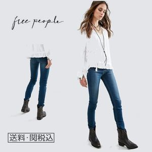 Free People Beverley ハイウエストスリムジーンズ