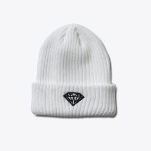 ダイヤモンドサプライ C15DHF10 BRILLIANT BEANIE WHITE・BLACK
