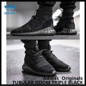 【adidas Originals】 TUBULAR DOOM TRIPLE BLACK S74794