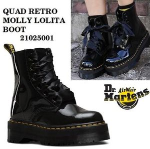 Dr Martens☆MOLLY LOLITA BOOT 厚底リボンブーツ 21025001