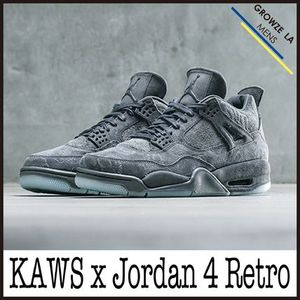 ★【NIKE】US8 26cm ナイキ KAWS x Air Jordan 4 Retro