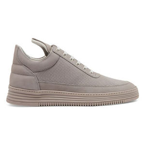 ∞∞filling pieces∞∞ Perforated nubuck-leather trainers