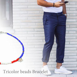 ◎Tricolor beads Ancklet トリコロール ビーズ アンクレット◎