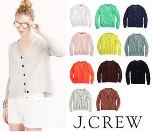 NEW!J Crew*Summerweight cotton V-neck カーディガン♪