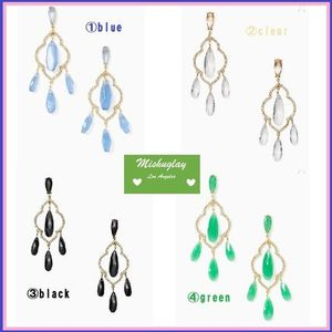 【kate spade】SALE!!lantern gems chandelier earrings★4色
