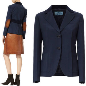 PR547 CORDUROY TRIMMED WOOL JACKET WITH ELBOW PATCH