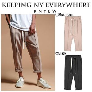 【KNYEW】☆17SS新作☆日本未入荷☆PLEATED CROPPED LOUNGE PANT