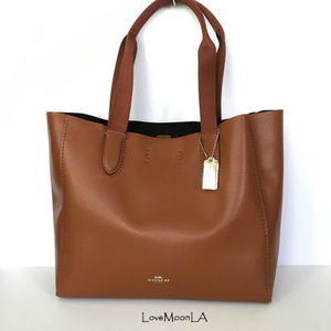 【COACH】即発☆A4OK!軽量レザーDERBY TOTE F58660☆Saddle☆