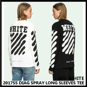 【Off-Whiteオフホワイト】2017SS DIAG SPRAY LONG SLEEVES TEE
