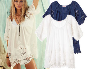 国内発送【Victoria's secret】2色!Flouncy Embroidered Tunic