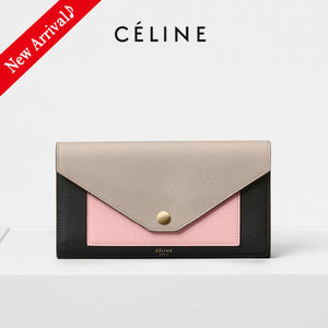 VIPセール♪国内発♡CELINE POCKET TRIFOLDED長財布,Desert