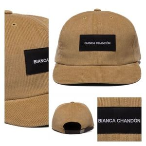 お早めに☆早期完売!!BIANCA CHANDON LOGOTYPE LABEL POLO CAP