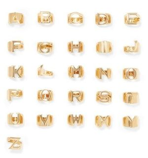 ★関税負担★CHLOE★ALPHABET GOLD-TONE RING