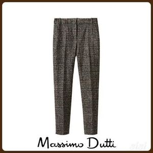 MassimoDutti♪SLIM FIT EMBELLISHED WOOL SUIT TROUSERS