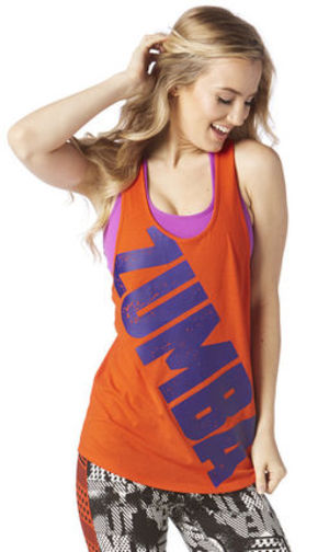 ◆9月新作◆国内未入荷◆Zumba Burn it Up Loose Tank- Heatwave