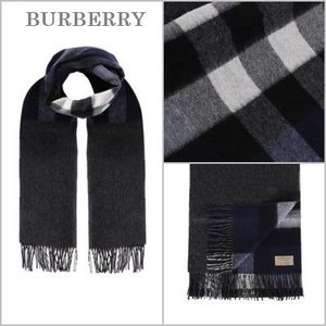 ★国内送関込★BURBERRY Half Check reversible マフラー