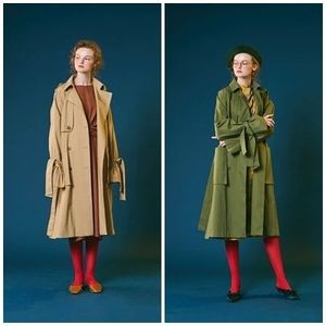 ANOTHER A(アナザーエー)のBasic retro ribbon trench 全2色