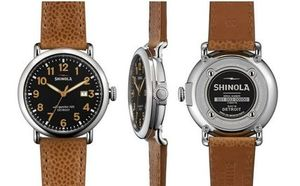 SHINOLA ★ The Runwell 41mm Black Watch with Date