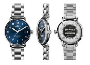 SHINOLA ★ The Canfield 43mm Men's Blue Watch with Date