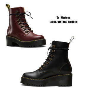 Dr Martens★LEONA VINTAGE SMOOTH★レースアップ・厚底ブーツ
