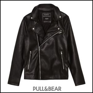 PULL&BEAR☆FAUX LEATHER パーフェクト ライダース  ダブル