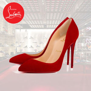 Christian Louboutin★PIGALLE FOLIES スエード パンプス 100mm