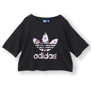 セレブ愛用★★Adidas★ Lotus Cropped Logo T-Shirt