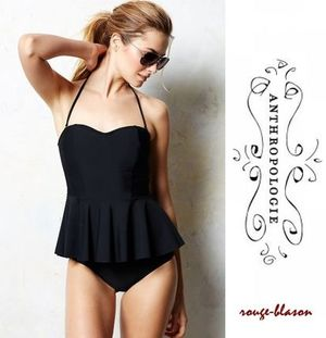 アンソロポロジー Mix & Match Peplum Tankini Top