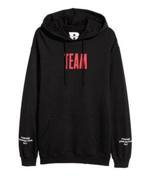 追尾/関税込 Justin Bieber Stadium Tour Team Hoodie Black