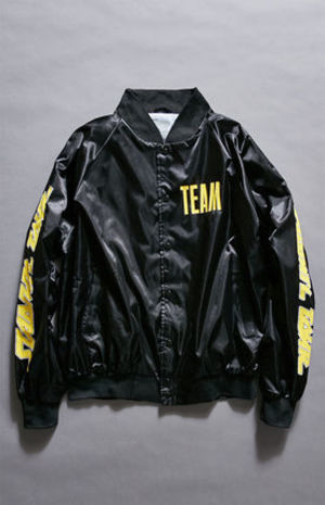 追尾/関税込 Justin Bieber Stadium Tour Satin Bomber Jacket