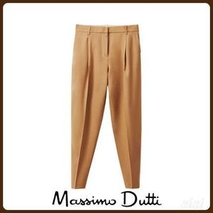 MassimoDutti♪SLIM FIT WOOL TROUSERS WITH DARTS DETAIL