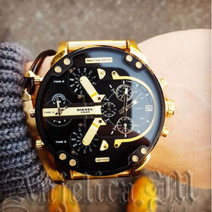 ★安心ヤマト便★DIESEL Mr. Daddy 2.0 Black Dial Men's DZ7333