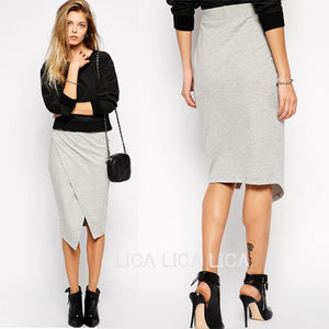 ASOS Pencil Skirt with Asymmetric Hem