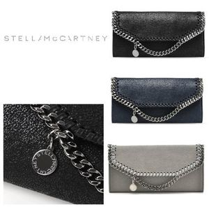 国内即発★Stella McCartney★FALABELLA SHAGGY DER長財布:3色有