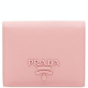 PR915 PRADA MONOCHROME FOLD-OVER WALLET SMALL